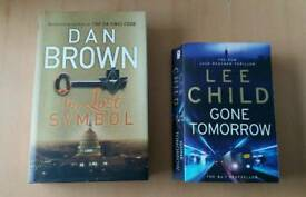 Dan Brown and Lee Child books