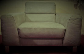 New. Grey suede armchair. Made in Italy.