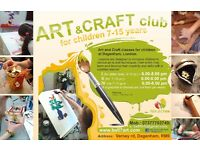 Art and craft club at Dagenham, London