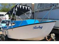 15ft Cruiser/Fishing Boat with Yamaha 4hp Outboard and two wheel trailer