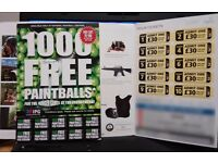 Selling 10 paintball tickets worth over £300