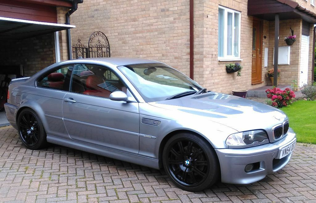 bmw e46 m3 silvergrey coupe manual � imola red