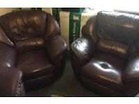 "Leather Recliner Armchairs ""Über Comfy"" For Urgent Sale! (Chairs as a Pair)"