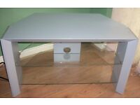 TV Stand - Wood with 2 tempered glass shelves