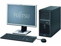 "Fujitsu P2560 Windows 7 PC with 19"" Monitor"