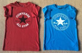 Converse TShirts 10 - 12 Years - Both For £10