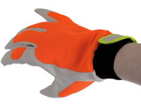 10 pairs New High Vis LEATHER Mechanics Work Gloves Large