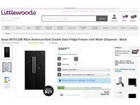 BRAND NEW AMERICAN FRIDGE WITH WATER DISPENSER IN BLACK *Still Online for £
