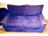 Large Lilac Fabric Sofa Bed