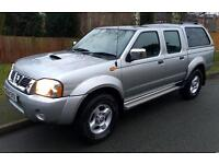 2004. Nissan Navara d22 double cab pickup 4x4. Low miles!