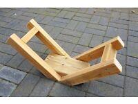 Indoor / Outdoor Wooden LOG CRADLE