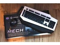 Coolermaster mechanical gaming keyboard white USB custom white