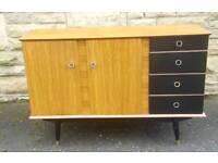 Stylish Mid Century Sideboard with Original Drawers