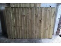 Straight Top Heavy Duty Pressure Treated Wooden Garden Fence Panels 🌲