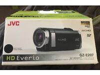 JVC EVERIO GZ-E207 CAMCORDER SD / SDHC CARD HD DIGITAL HIGH DEFINITION VIDEO
