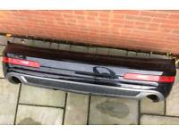Genuine 2014 Audi Q7 4l Black S line Facelift Rear Bumper + Wiring Loom