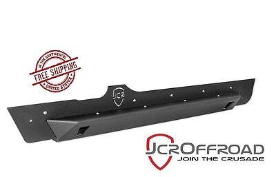 JCR Offroad Crusader Rock Sliders - Black PC - 97-06 Jeep Wrangler TJ