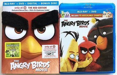THE ANGRY BIRDS MOVIE BLU RAY DVD TARGET EXCLUSIVE + SLIPCOVER & BONUS DISC