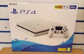SONY PS4 500GB SLIM WHITE BRAND NEW SEALED WITH WARRANTY & RECEIPT