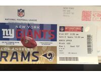 NFL ticket for sale LA Rams v NY Giants at Twickenham Stadium