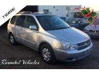 2008 Kia Sedona 2.9 diesel 7 SEAT people carrier, sliding doors, dvd system, long mot CLEAN EXAMPLE