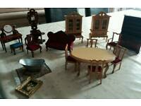 Dolls house furniture (free accessories not shown)