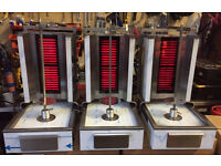 Glass Front 2 Burner CANMAC Electric Doner Machine 3kw (13A Plug )