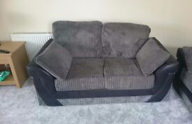 2 and 3 seater grey sofas
