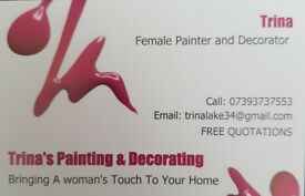 Female painter and decorator.
