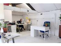 Desk space available in our bright, cheerful workspace