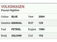 Breaking Vw passat 2004 highline 2.0 petrol