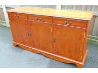 regency style inlaid Light mahogany sideboard