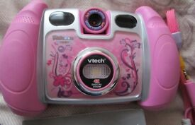 Pink Vtech Kidizoom Twist Plus Children's Camera - USB lead - 2gb Memory card & special Blue case