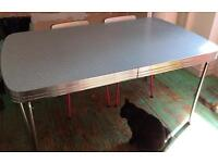 Retro style dining table.