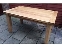 100% Solid Oak Dining Table.