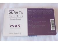 Brand New NSI DURA-Tip Nail Tips | Natural | 150ct | Size 1-10 | Nail Technology | Assorted