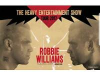 2 x Tickets for Robbie Williams - £50 each ONO