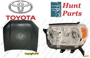 Toyota 4Runner 4 Runner 2010 2011 2012 2013 Head Lamp Light Headlamp Hood Hinge Radiator Support Rebar Window Regulator