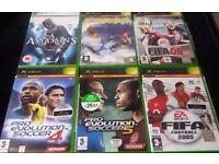6 used XBOX Games/ Job Lot.