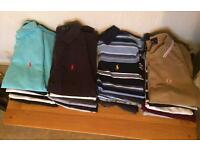 25 x Mens Polo Shirts. New and Used, car boot opportunity. Mostly Designer