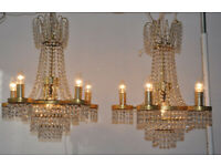 2 Strass Crystal Chandeliers
