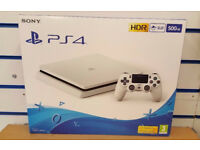 SONY PS4 500GB SLIM WHITE BRAND NEW SEALED WITH WARRANTY & RECEIPT