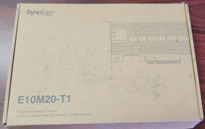 Synology E10M20-T1 10Gb Ethernet and M.2 Adapter card