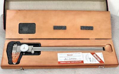 Starrett 120z-12 Dial Caliper Machinist Tool Wooden Case And Original Box