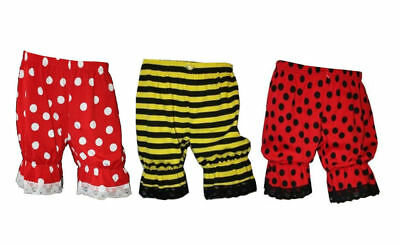 Bumble Bee Lady Bug Red & White Polka Dots Short Bloomers Halloween Fancy Dress Bumble Bee Lady