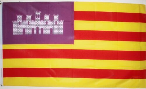 MAJORCA MENORCA IBIZA FLAG 5X3 FEET Balearic Islands SPAIN SPANISH ESPANA FLAGS