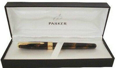 Parker Sonnet Chinese Laque Vision Fonce 18K Gold Fine Pt Fountain Pen New In Bx