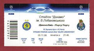 Orig-Ticket-Champions-League-08-09-DINAMO-KIEW-FC-PORTO-RARE