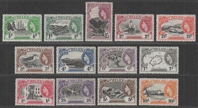 St Helena 1953 Queen Elizabeth II Set Mint SG153-165 cat £85