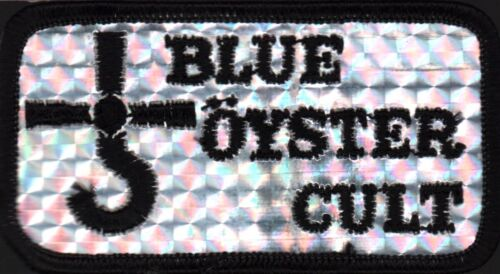 BLUE OYSTER CULT 1980 CULTOSAURUS ERECTUS TOUR ORIGINAL SILVER CONCERT PATCH